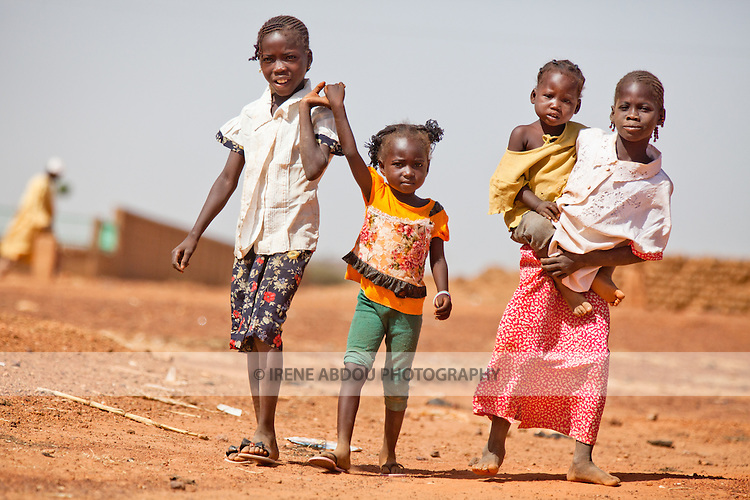 Children in the town of Djibo in northern Burkina Faso.