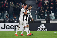Mario Mandzukic of Juventus celebrates with Cristiano Ronaldo after scoring a goal during the Serie A 2018/2019 football match between Juventus and AS Roma at Allianz Stadium, Roma, December 22, 2018 <br /> Foto OneNine / Insidefoto