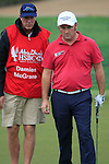 Damien McGrane and his caddy John Hort line up his putt on the 8th green during Day 2 Friday of the Abu Dhabi HSBC Golf Championship, 21st January 2011..(Picture Eoin Clarke/www.golffile.ie)