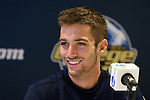 08 December 2012: Georgetown's Steve Neumann. The Georgetown University Hoyas held a press conference at Regions Park Stadium in Hoover, Alabama one day before playing in the 2012 NCAA Division I Men's Soccer College Cup championship game.