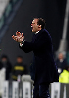 Calcio, Serie A: Juventus - Genoa, Torino, Allianz Stadium, 22 gennaio 2018. <br /> Juventus' coach Massimiliano Allegri gestures to his players in action during the Italian Serie A football match between Juventus and Genoa at Torino's Allianz stadium, January 22, 2018.<br /> UPDATE IMAGES PRESS/Isabella Bonotto