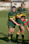 Sale prop M. Hallsell & J. Chipman at lineout time. Counties Manukau Premier Club Rugby, Pukekohe v Waiuku  played at the Colin Lawrie field, on the 3rd of 2006.Pukekohe won 36 - 14