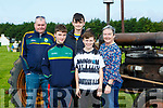 Denis, DJ, Sean and Nora Fealey with Sean Sullivan Cordal at the Treshing for Cancer in Beaufort on Sunday