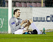 8th September 2017, Athlone Town Stadium, Athlone, Ireland; Match fixing charges brought against two Athlone Town Players; gor Labuts in action, who was recently banned for 12 months by the FAI for match fixing