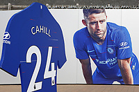 Chelsea's Gary Cahill still features prominently on the walls near the main entrance to Chelsea FC during Chelsea Under-23 vs Arsenal Under-23, Premier League 2 Football at Stamford Bridge on 15th April 2019