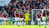 Burnley players react after Arsenal scored a second<br /> <br /> Photographer Alex Dodd/CameraSport<br /> <br /> The Premier League - Burnley v Arsenal - Sunday 12th May 2019 - Turf Moor - Burnley<br /> <br /> World Copyright © 2019 CameraSport. All rights reserved. 43 Linden Ave. Countesthorpe. Leicester. England. LE8 5PG - Tel: +44 (0) 116 277 4147 - admin@camerasport.com - www.camerasport.com