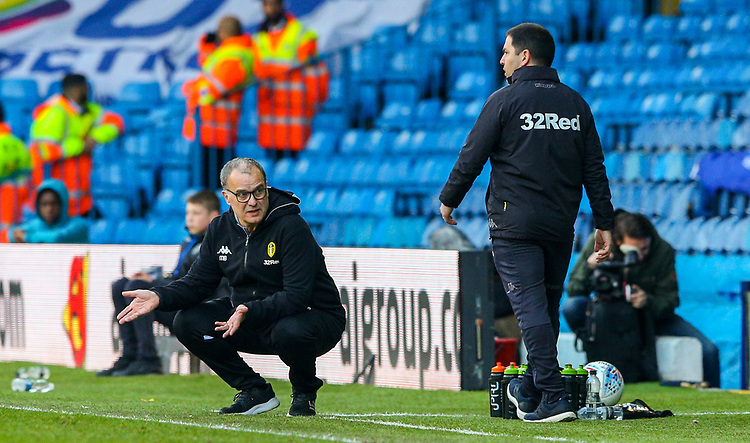 Leeds United manager Marcelo Bielsa reacts<br /> <br /> Photographer Alex Dodd/CameraSport<br /> <br /> The EFL Sky Bet Championship - Leeds United v Millwall - Saturday 30th March 2019 - Elland Road - Leeds<br /> <br /> World Copyright © 2019 CameraSport. All rights reserved. 43 Linden Ave. Countesthorpe. Leicester. England. LE8 5PG - Tel: +44 (0) 116 277 4147 - admin@camerasport.com - www.camerasport.com