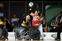 Chris Bond (AUS) vs Japan<br /> Australian Wheelchair Rugby Team<br /> 2018 IWRF WheelChair Rugby <br /> World Championship / Finals<br /> Sydney  NSW Australia<br /> Friday 10th August 2018<br /> &copy; Sport the library / Jeff Crow / APC