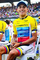 MEDELLIN - COLOMBIA, 10-02-2018: Oscar Quiroz (Coldeportes Bicicletas Strongman) durante la presentación oficial de equipos que participarán en el Tour Colombia 2.1 2019. / Oscar Quiroz (Coldeportes Bicicletas Strongman) during the presentation of the whole teams that participate inthe Tour Colombia 2.1 2019   Photo: VizzorImage / Anderson Bonilla / Cont