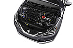 Car Stock 2017 Nissan Sentra S 4 Door Sedan Engine  high angle detail view