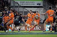 Joaquin Tuculet in action during the Super Rugby match between the Chiefs and Jaguares at Rotorua International Stadum in Rotorua, New Zealand on Friday, 4 May 2018. Photo: Dave Lintott / lintottphoto.co.nz