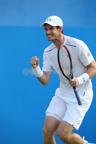 Andy Murray vs Nicolas Mahut at Aegon Queens tennis Championship  at Queens Club, in London, England June 14,, 2016.<br /> CAP/GOL<br /> &copy;GOL/Capital Pictures /MediaPunch ***NORTH AND SOUTH AMERICAS ONLY***