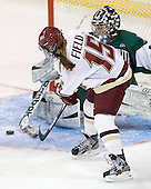 Emily Field (BC - 15), Lindsay Holdcroft (Dartmouth - 30) - The Boston College Eagles defeated the Dartmouth College Big Green 4-3 on Sunday, October 23, 2011, at Kelley Rink in Conte Forum in Chestnut Hill, Massachusetts.