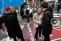 Il Ministro della Gioventu' Giorgia Meloni, al centro, alla manifestazione del Popolo della Liberta' a Roma, 20 marzo 2010..Italian Youth Minister Giorgia Meloni, center, takes part in the People of Freedom center-right party demonstration in Rome, 20 march 2010..UPDATE IMAGES PRESS/Riccardo De Luca