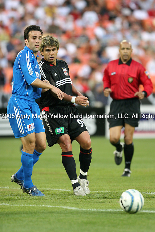 21 May 2005: Kerry Zavagnin (5) and Jaime Moreno (99). DC United defeated the Kansas City Wizards 3-2 at RFK Stadium in Washington, DC in a regular season Major League Soccer game. . .