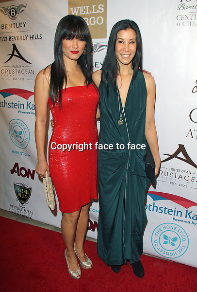 BEVERLY HILLS, CA - February 05: Kelly Hu, Lisa Ling at Experience East Meets West honoring Beverly Hills' momentous centennial year, Crustacean, Beverly Hills, February 05, 2014. Credit: Janice Ogata/MediaPunch Inc.<br />