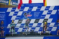 #17 JOHN MCPHEE (GBR) PETRONAS SPRINTA RACING (MYS) HONDA NSF250RW #48 LORENZO DALLA PORTA (ITA) LEOPARD RACING (LUX) HONDA NSF250RW #44 ARON CANET (ESP) STERILGARDA MAX RACING TEAM (ITA) KTM RC250GP