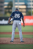 AZL Padres 2 relief pitcher Michell Miliano (26) during an Arizona League game against the AZL Angels at Tempe Diablo Stadium on July 18, 2018 in Tempe, Arizona. The AZL Padres 2 defeated the AZL Angels 8-1. (Zachary Lucy/Four Seam Images)