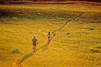 Mountain biking on prairie, Maah Daah Hey Trail, near Medora, North Dakota, AGPix_0309.