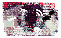 Surveillance and internet security collage