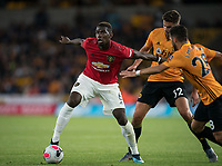 Paul Pogba of Man Utd during the Premier League match between Wolverhampton Wanderers and Manchester United at Molineux, Wolverhampton, England on 19 August 2019. Photo by Andy Rowland.
