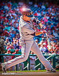 8 June 2013: Minnesota Twins utilityman Jamey Carroll in action against the Washington Nationals at Nationals Park in Washington, DC. The Twins edged out the Nationals 4-3 in 11 innings.