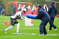 June 6, 2017: New England Patriots wide receiver Brandon Cooks (14) works on a drill at the New England Patriots mini camp held on the practice field at Gillette Stadium, in Foxborough, Massachusetts. Eric Canha/CSM