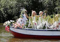 Nederland  Schipluiden 2016.  Het Varend Corso. Kindercorso.  Foto Berlinda van Dam / Hollandse Hoogte