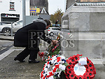 Wreath laying at the Cenotaph. Photo:Colin Bell/pressphotos.ie