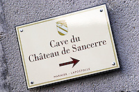 Chateau de Sancerre, Marnier Lapostolle. Sancerre village, Loire, France