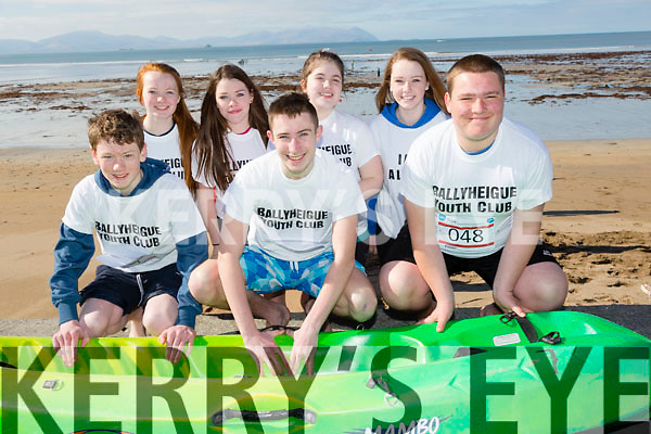 At the North Kerry's KDYS 'fittest Club'  Challenge at Ballyheigue beach  on Saturday were front l-r Darren Stack, Dave Kassan, Kyle Reidy, back l-r Maggie Lynch, Niamh Duggan,  Nicole Carney, Sarah O'Sullivan from Ballyheigue Youthclub