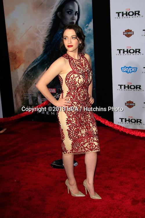 LOS ANGELES - NOV 4:  Kat Dennings at the Thor: The Dark World' Premiere at El Capitan Theater on November 4, 2013 in Los Angeles, CA