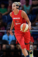 Washington, DC - August 25, 2019: Washington Mystics forward Elena Delle Donne (11) brings the ball up court during second half action of game between the New York Liberty and the Washington Mystics at the Entertainment and Sports Arena in Washington, DC. The Mystics defeated New York 101-72. (Photo by Phil Peters/Media Images International)