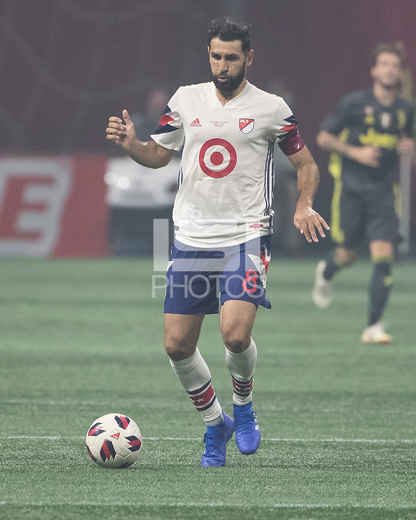 Atlanta, Georgia - August 1, 2018: Mercedes Benz Stadium, MLS All-Star Game.  Final score Juventus 1, MLS All-Stars 1, Juventus wins 5-3 on penalty kicks.