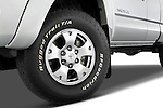 Tire and wheel close up detail view of a 2008 Toyota Tacoma Access Cab TRD