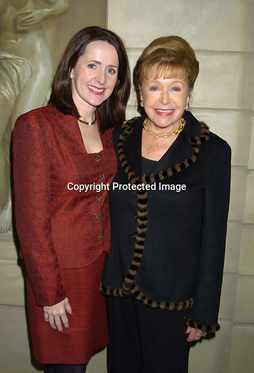 Carol and Mary Higgins Clark ..at the PAL 16th Annual Women of the Year Luncheon honoring Kelly Ripa, Paul Zahn and Cindi Stivers on October 26, 2004 at the Pierre Hotel. ..Photo by Robin Platzer, Twin Images