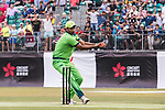 Sohail Khan of Pakistan runs out Sarel Erwee of South Africa during Day 2 of Hong Kong Cricket World Sixes 2017 Cup final match between Pakistan vs South Africa  at Kowloon Cricket Club on 29 October 2017, in Hong Kong, China. Photo by Yu Chun Christopher Wong / Power Sport Images