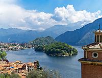 Italien, Lombardei, Comer See, die Urlaubsorte Sala Comacina und Ossuccio mit der Insel Isola Comacina | Italy, Lombardia, Lake Como, resorts Sala Comacina and Ossuccio with island Isola Comacina