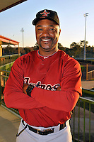 Feb 25, 2010; Kissimmee, FL, USA; The Houston Astros coach Dave Clark (35) during photoday at Osceola County Stadium. Mandatory Credit: Tomasso De Rosa/ Four Seam Images