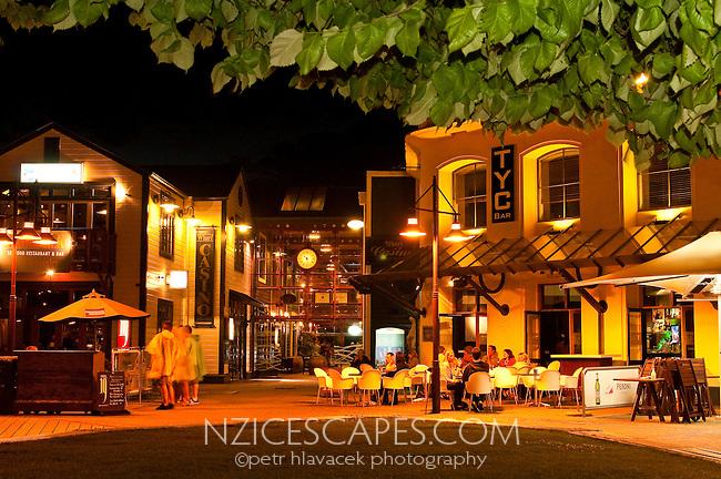 Street life in Queenstown - Central Otago, New Zealand