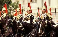 England. London.  Mounted guardsmen of the Household Cavalry during the Trooping of the Colour/Color ceremony..