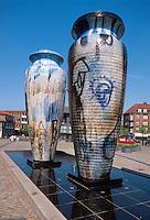 Daenemark, Seeland, Brunnen in Roskilde bei Kopenhagen