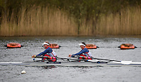 Caversham. Berkshire. UK<br /> GBR LW2X, bow Charlotte TAYLOR and Kat COPELAND.<br /> 2016 GBRowing European Team Announcement,  <br /> <br /> Wednesday  06/04/2016 <br /> <br /> [Mandatory Credit; Peter SPURRIER/Intersport-images]