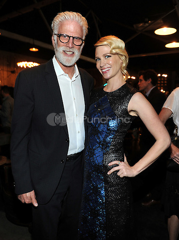 LOS ANGELES - FEBRUARY 24: Ted Danson and January Jones at an exclusive screening of the premiere episode of FOX's 'The Last Man on Earth' at Big Daddy's Antique Shop on February 24, 2015 in Los Angeles, California. Credit: PGFM/MediaPunch