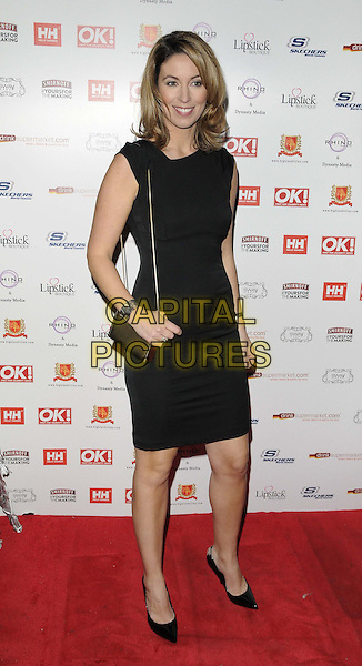 Emma Crosby.The OK! magazine Christmas party, Sway Bar, London, England..November 27th, 2012.full length sleeveless dress black.CAP/CAN.©Can Nguyen/Capital Pictures.