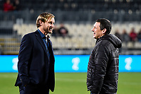 25th July 2020, Christchurch, New Zealand;  Scott Robertson Coach of the Crusaders and Jason Holland Head Coach of the Hurricanes pre match during the Super Rugby Aotearoa, Crusaders versus Hurricanes at Orangetheory stadium, Christchurch