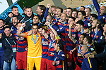 FC Barcelona team group, <br /> DECEMBER 20, 2015 - Football / Soccer : <br /> FIFA Club World Cup Japan 2015 <br /> Award Ceremony <br /> at Yokohama International Stadium in Kanagawa, Japan. <br /> (Photo by YUTAKA/AFLO SPORT)