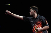 10th January 2018, Brisbane Royal International Convention Centre, Brisbane, Australia; Pro Darts Showdown Series; Tahuna Irwin (NZ) in action during his match against Kyle Anderson(AUS)