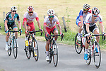 Riders on the first pass of the final climb during Stage 1 of the Route d'Occitanie 2019, running 175.5km from Gignac-Vallée de l'Hérault to Saint-Geniez-d'Olt-et-d'Aubrac , France. 20th June 2019<br /> Picture: Colin Flockton | Cyclefile<br /> All photos usage must carry mandatory copyright credit (© Cyclefile | Colin Flockton)