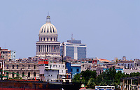 View of city scape skyline from river of Havana Cuba Habana